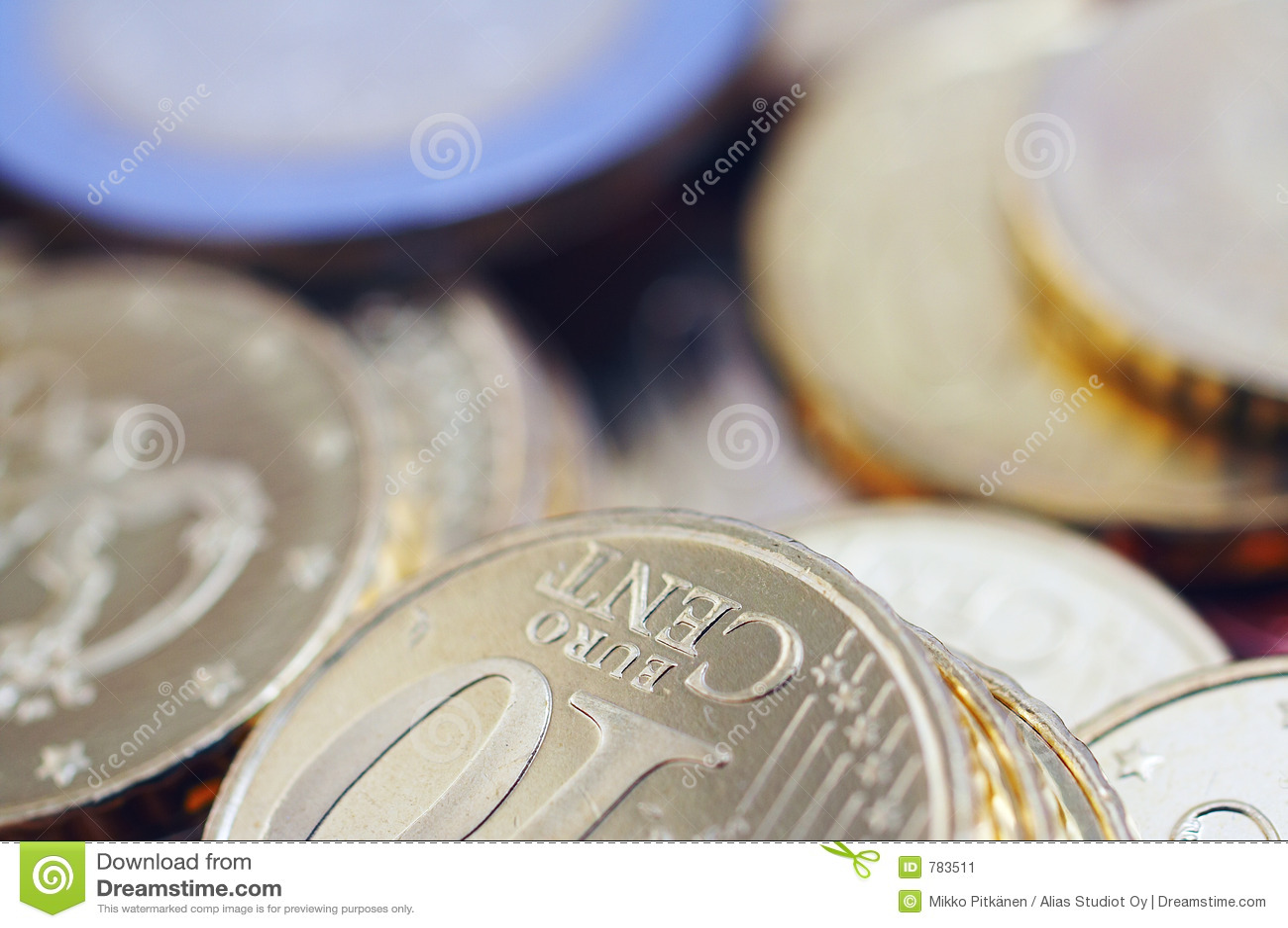 De euro muntstukken van Uncirculated