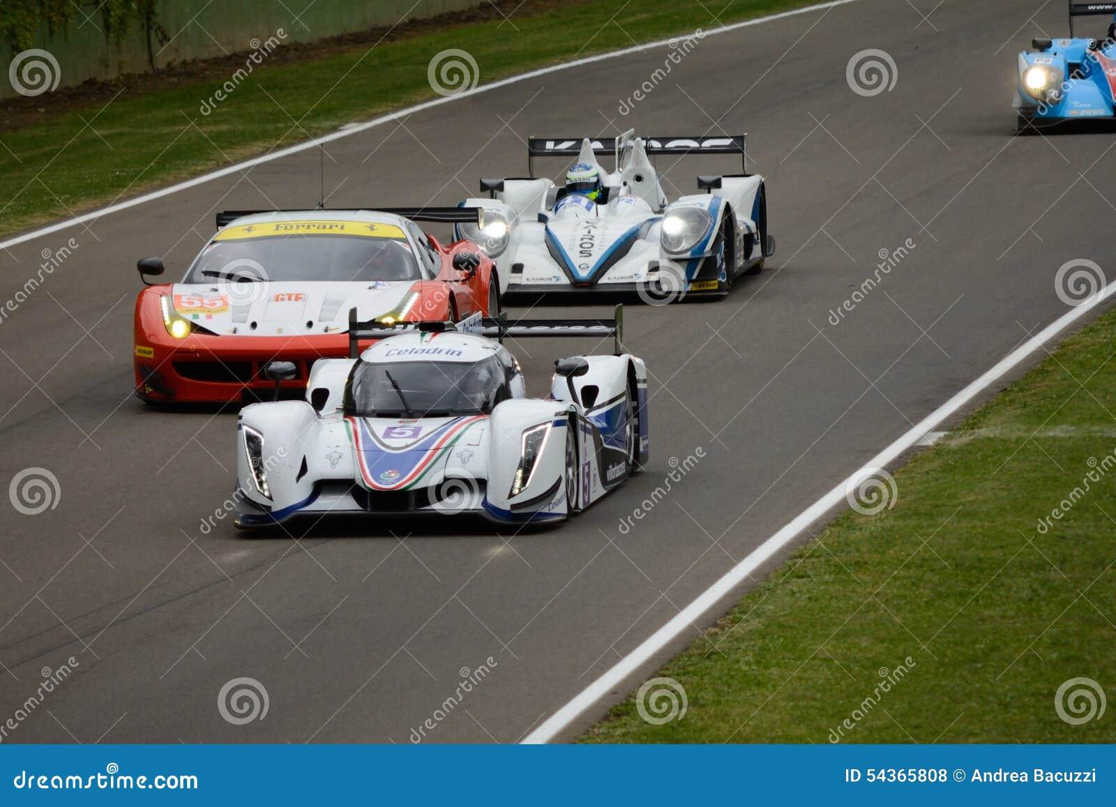 De Europese actie van het de Reeksspoor van Le Mans bij Imola-kring