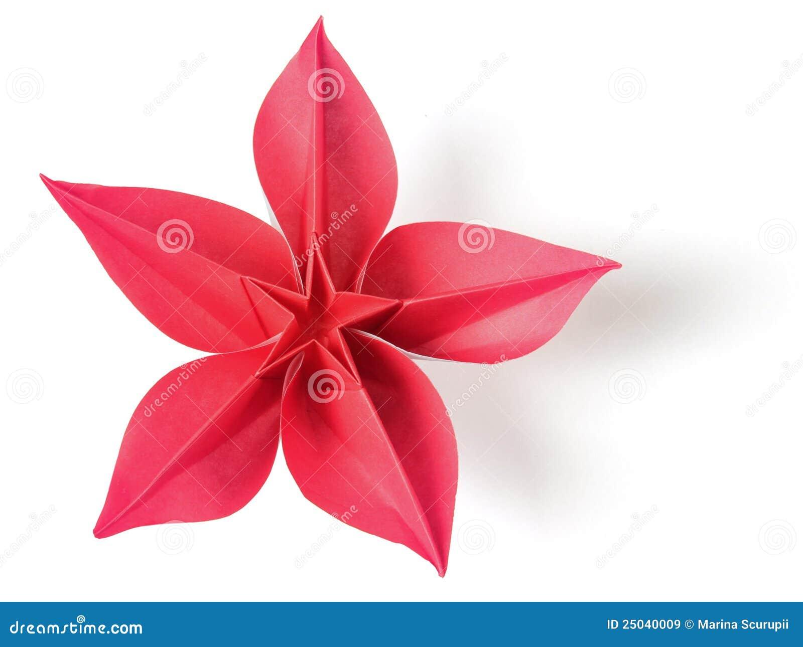 de exotische origami van de bloem stock afbeelding afbeelding 25040009. Black Bedroom Furniture Sets. Home Design Ideas
