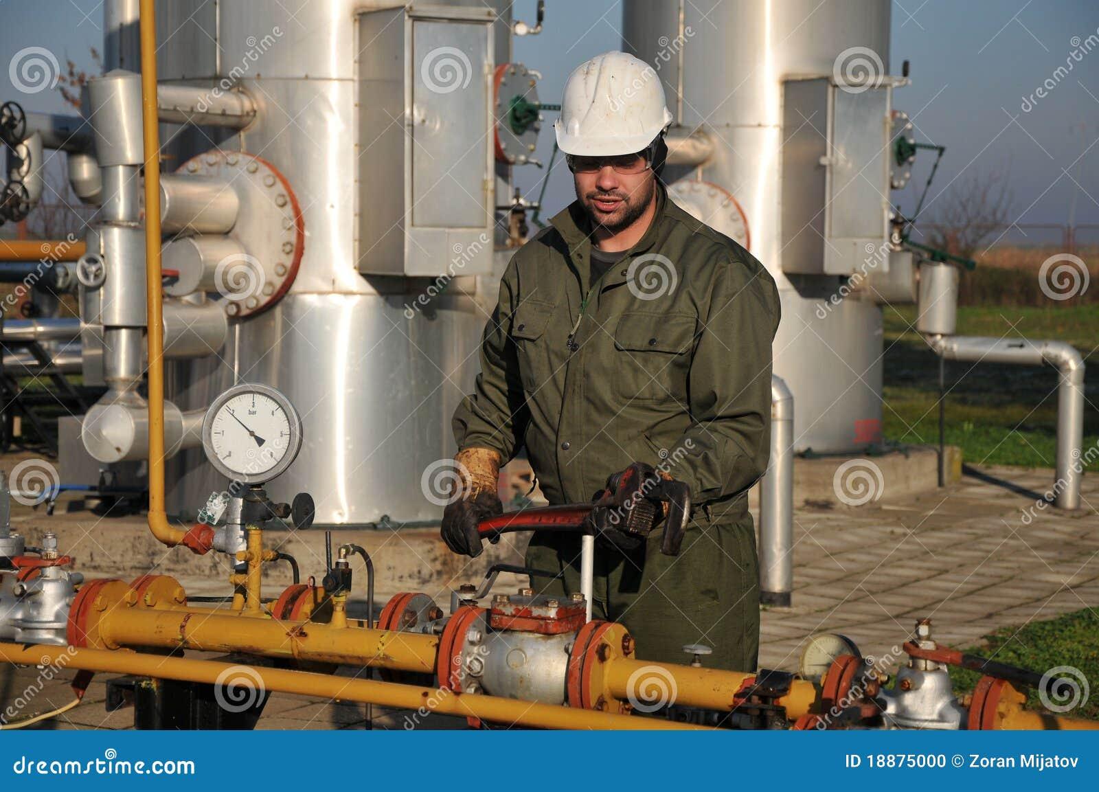 De exploitant van het gas