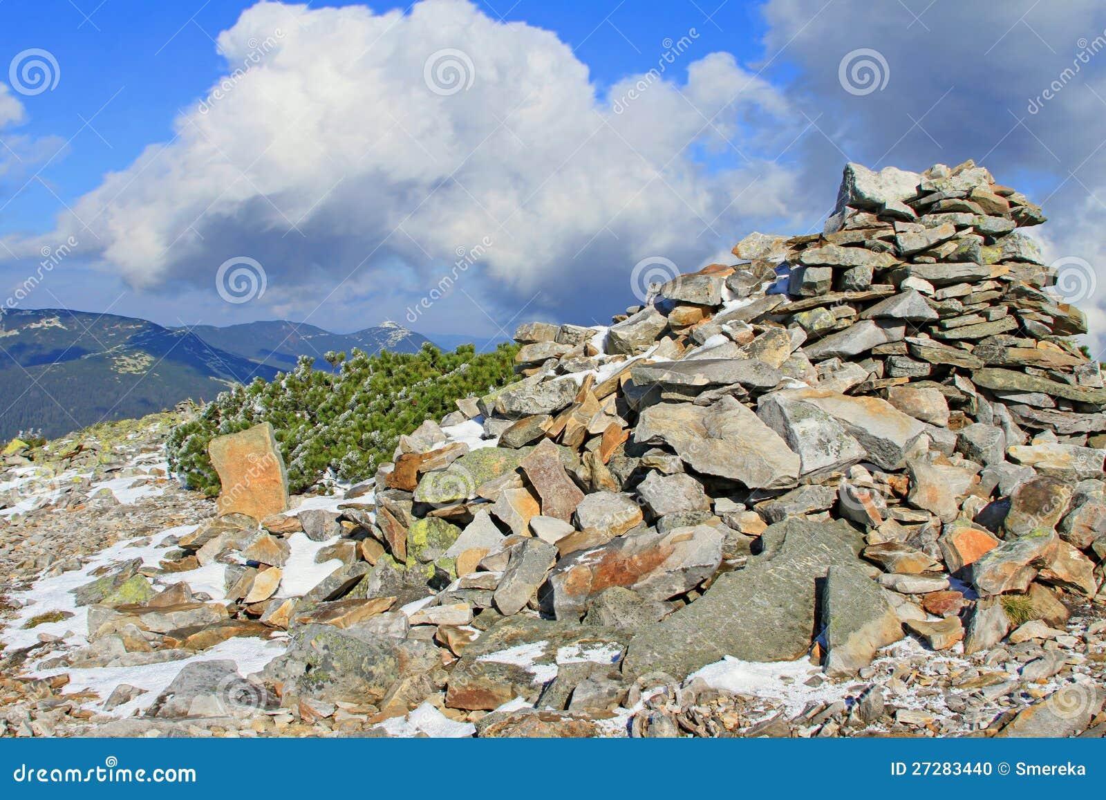 De första insnöade bergen