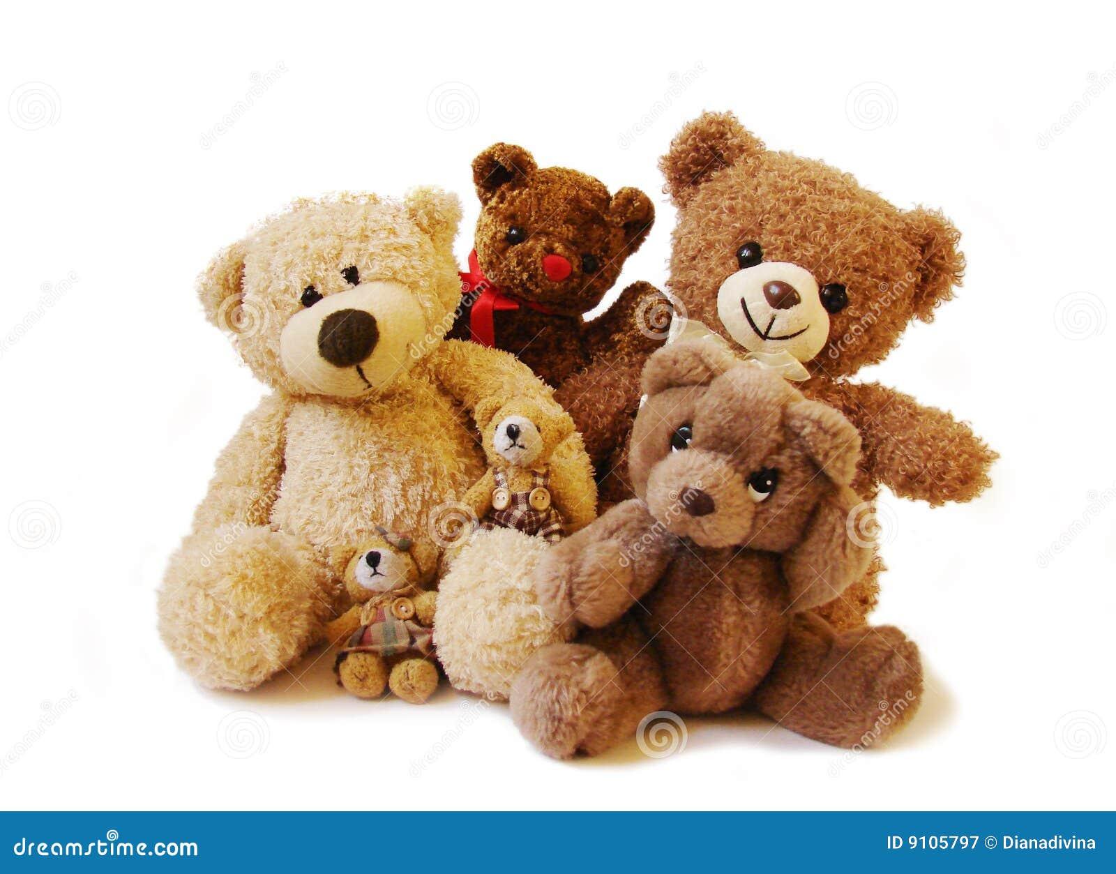 De familie van teddyberen
