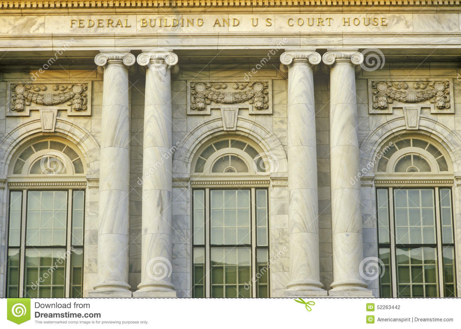 De federale Bouw en U S Hof Huis van Macon, Georgië