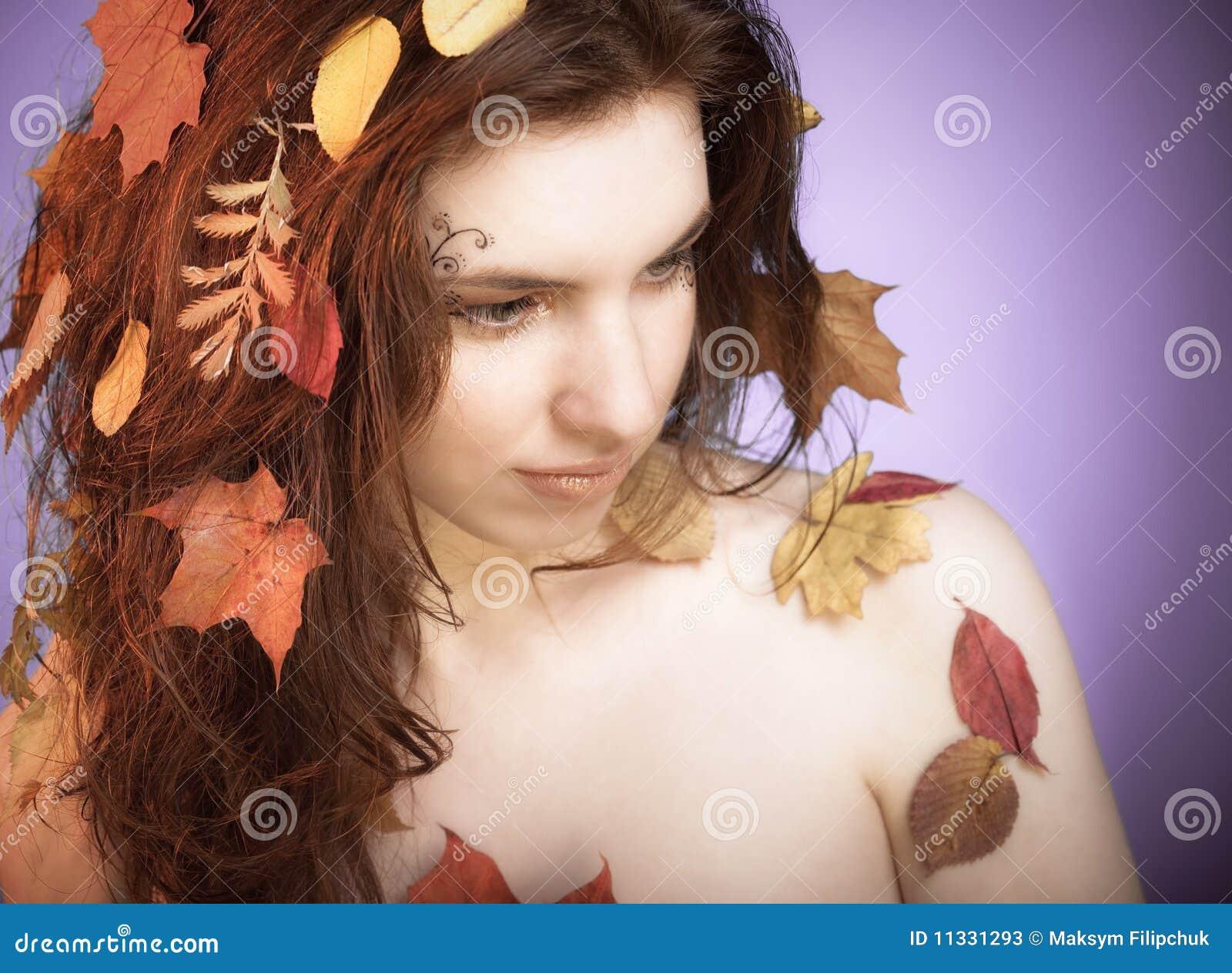 De fee van de herfst