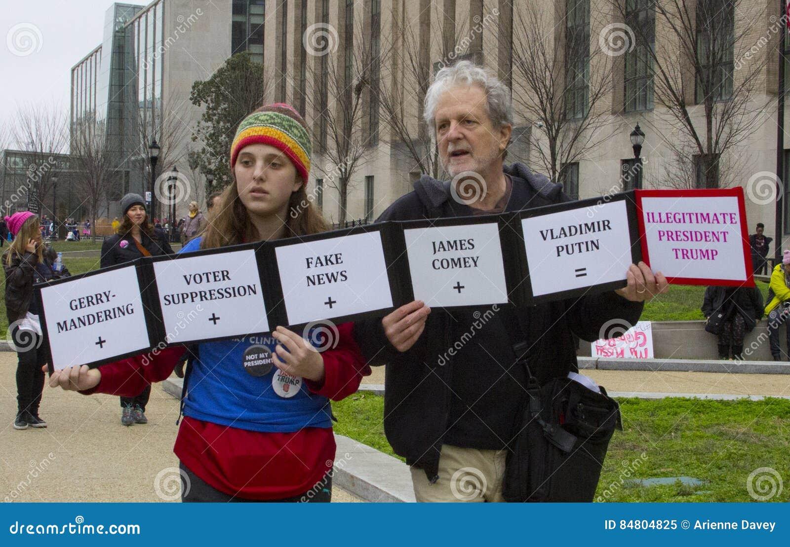 ` De femmes s mars sur Washington
