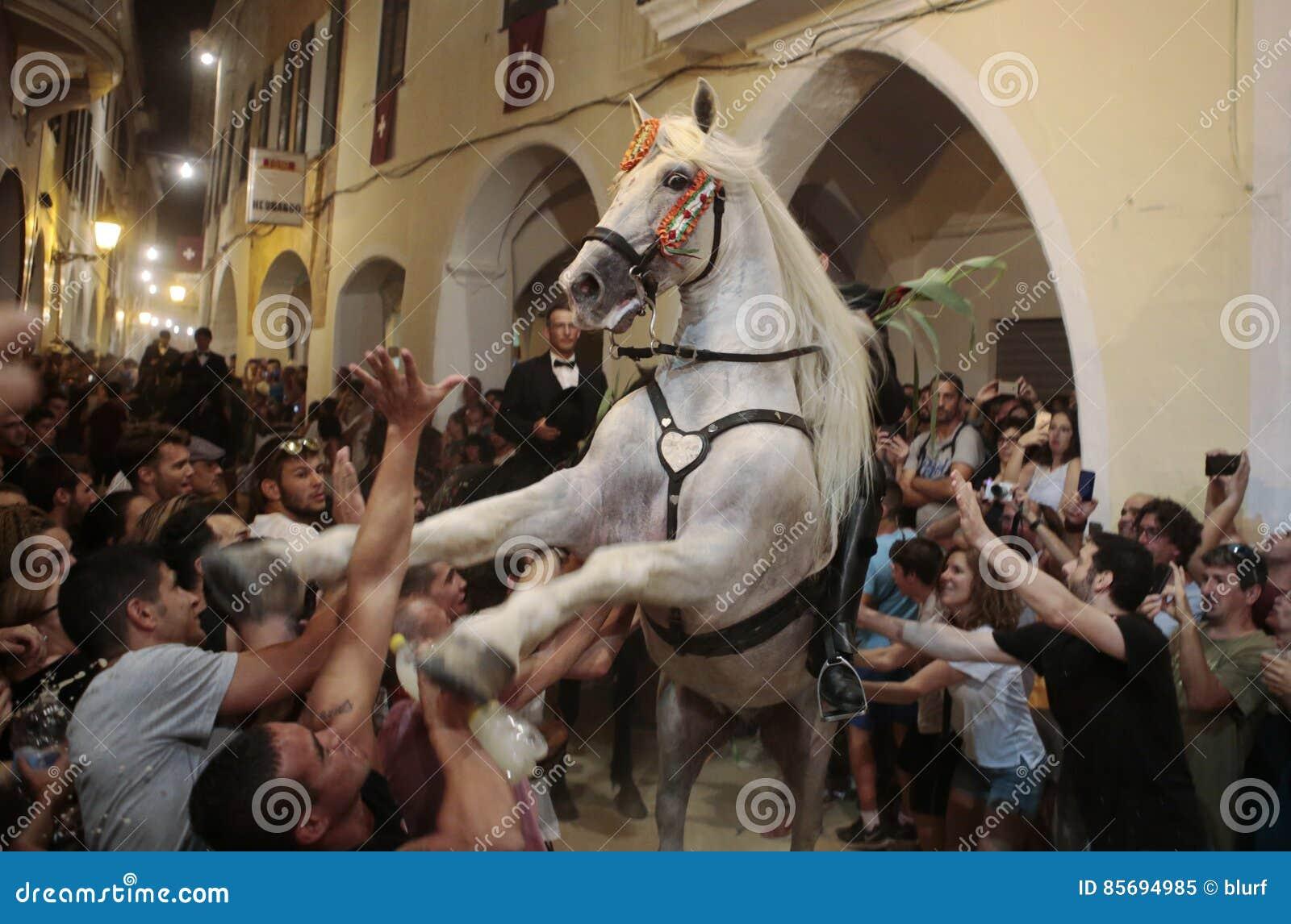 De festiviteit van heilige John Horses in Minorca