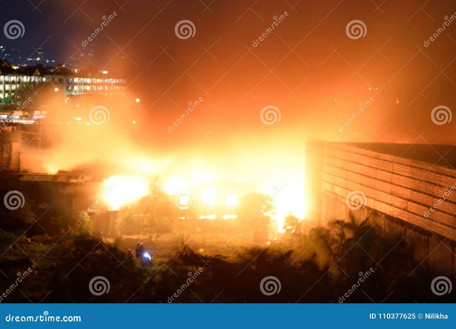 20 de fevereiro de 2018 7:20 fogo do pm em Pasig Filipinas