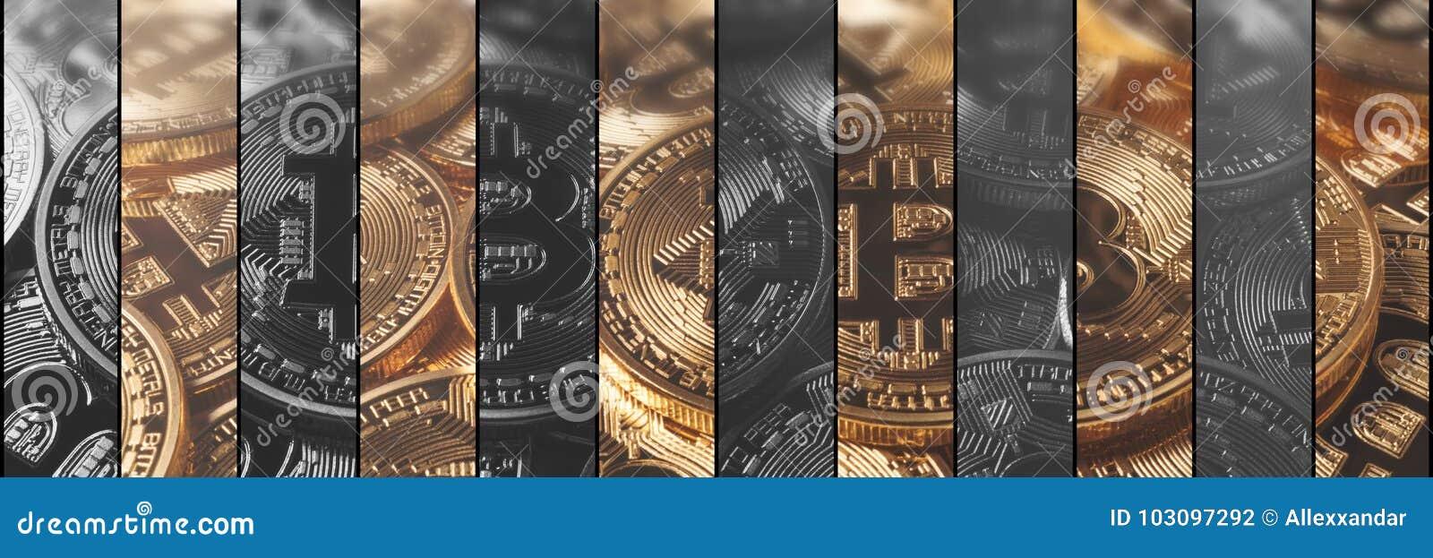 De financiën en de technologieconcept van het Cryptocurrencyconcept Bitcoin,