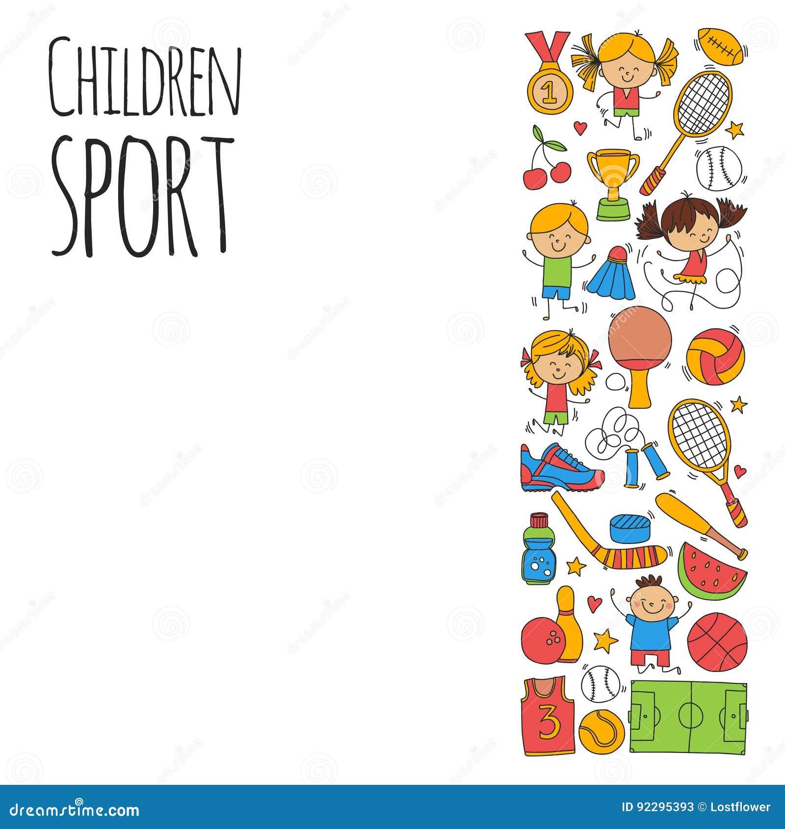 De Fitness van de kinderensport van het het Tennisbasketbal van het Voetbalvolleyball van de de Fiets de Lopende Toekenning sport