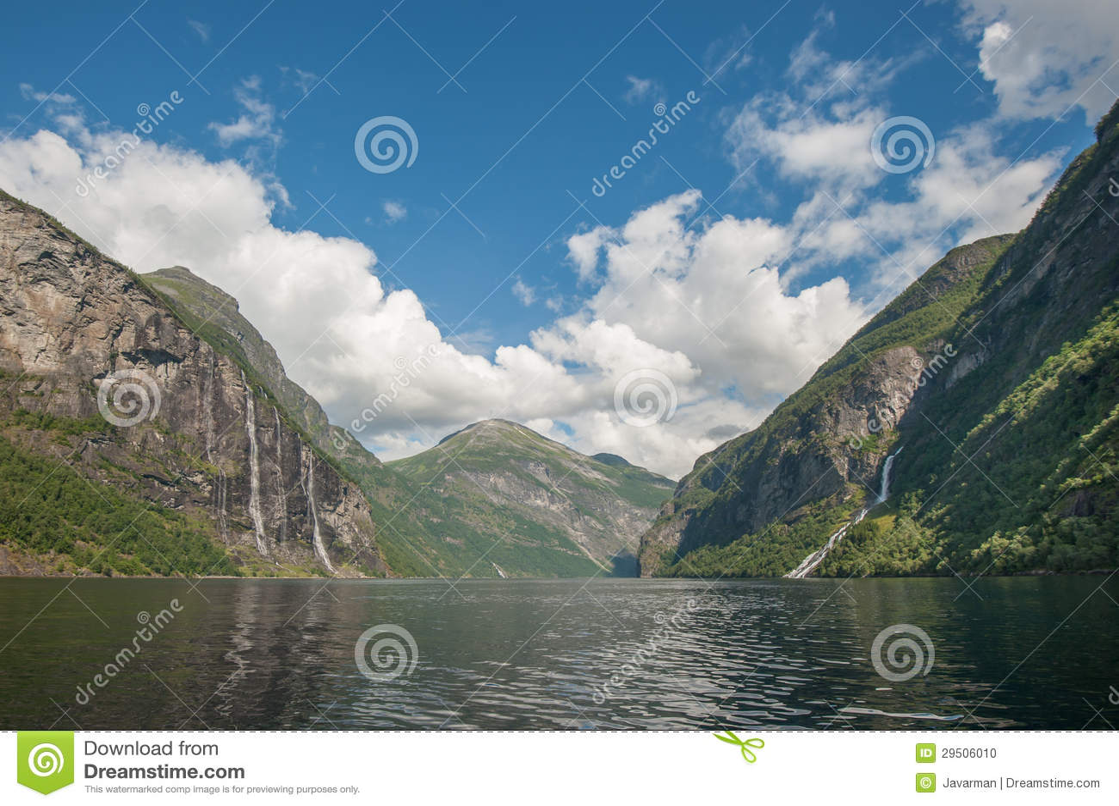 De fjord van Geiranger, Noorwegen
