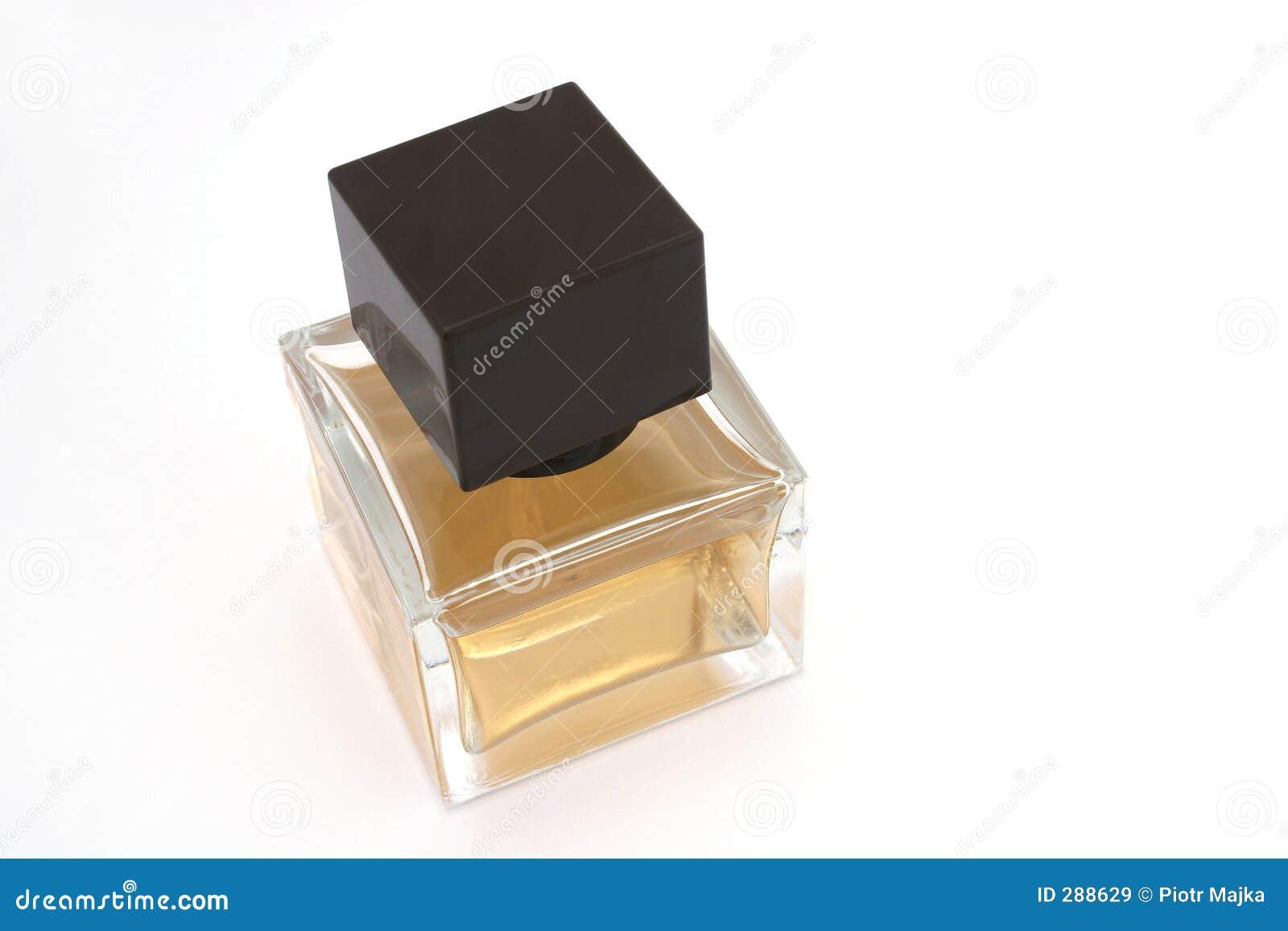 De fles van het parfum