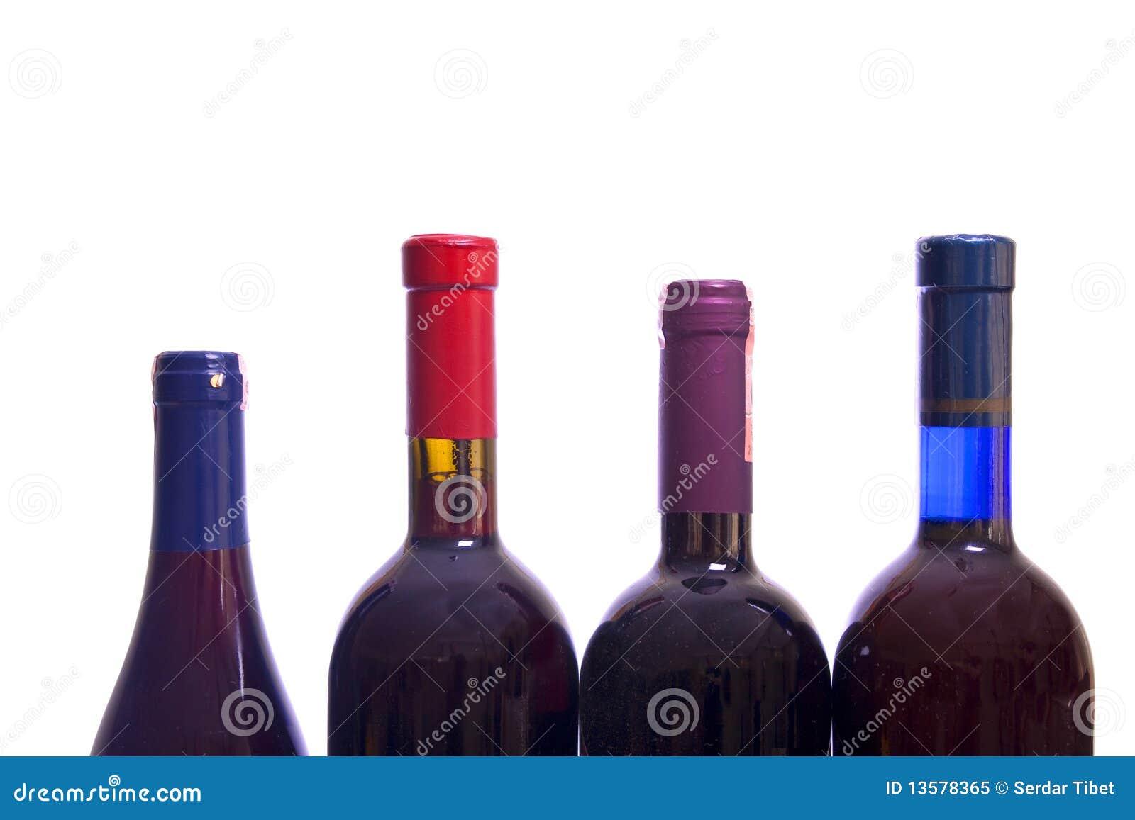 De flessen van de wijn