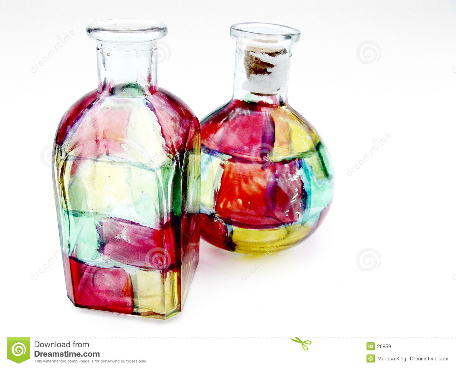 De Flessen van het Glas van de vlek