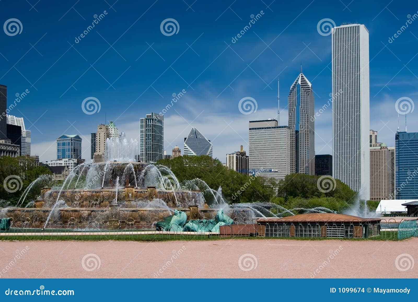 De Fontein van Buckingham en de Horizon van Chicago
