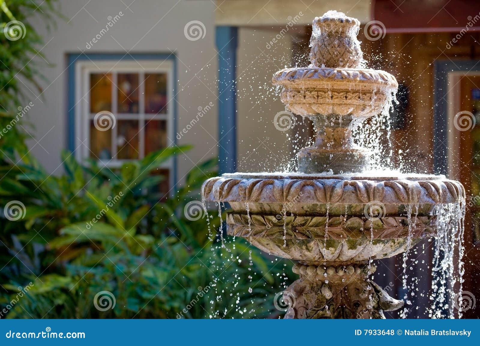 De fontein van de tuin