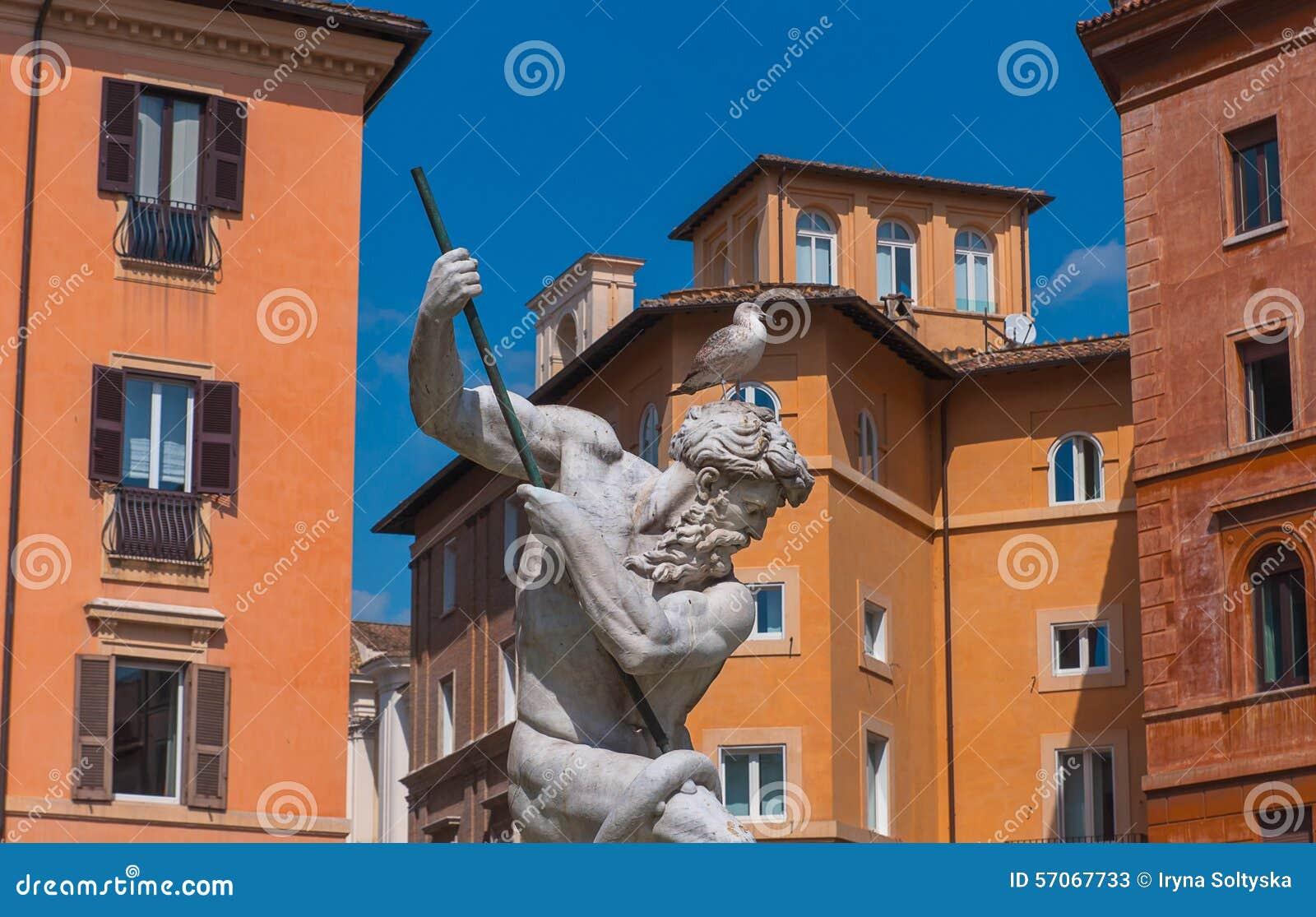 De Fontein van Neptunus, Italië
