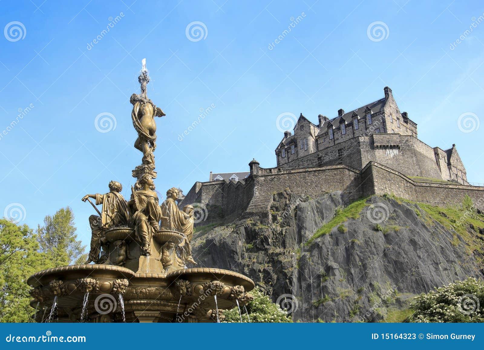 De fonteinEdinburgh van Ross kasteel