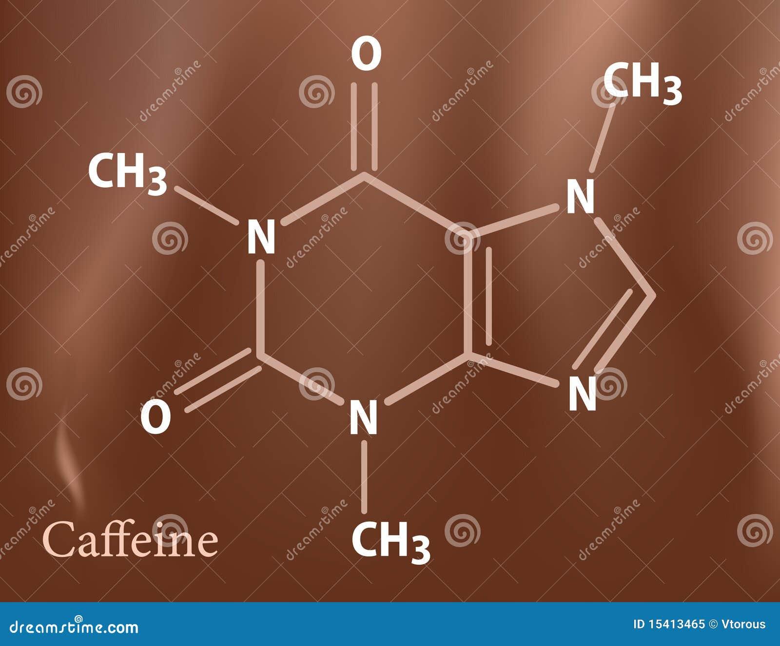 De formule van de cafeïne