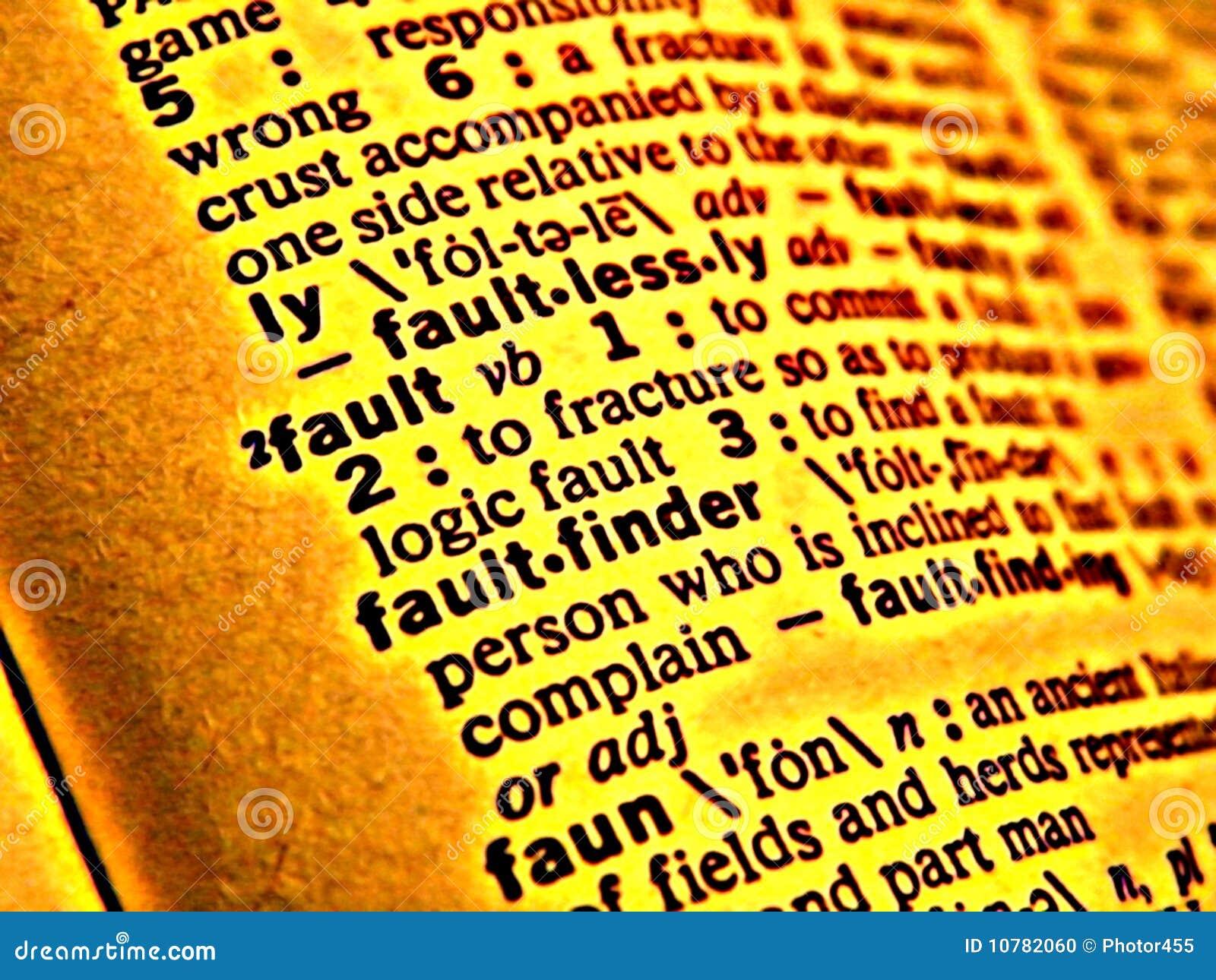 De fout van het woordenboek