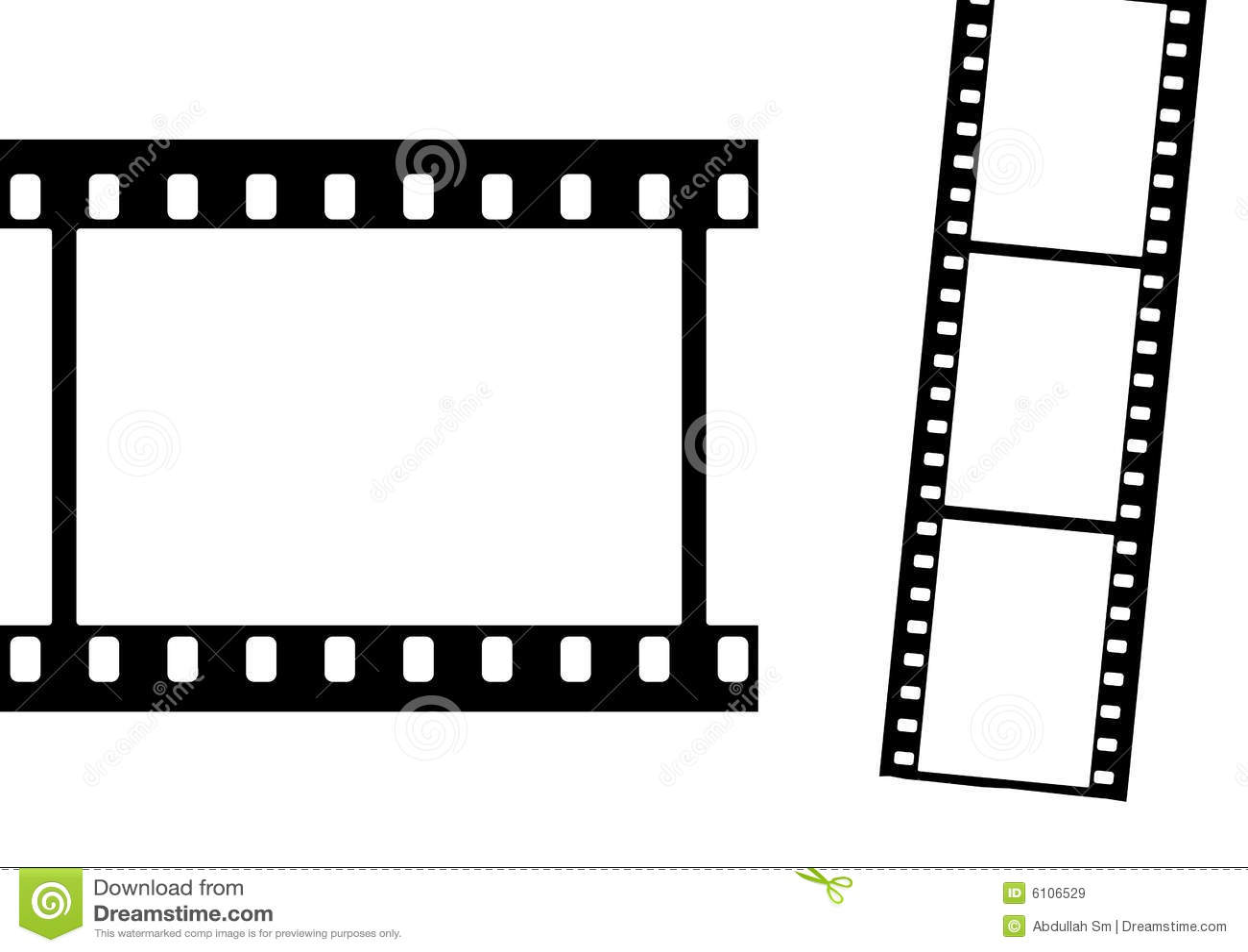 De frames van de film vlakte
