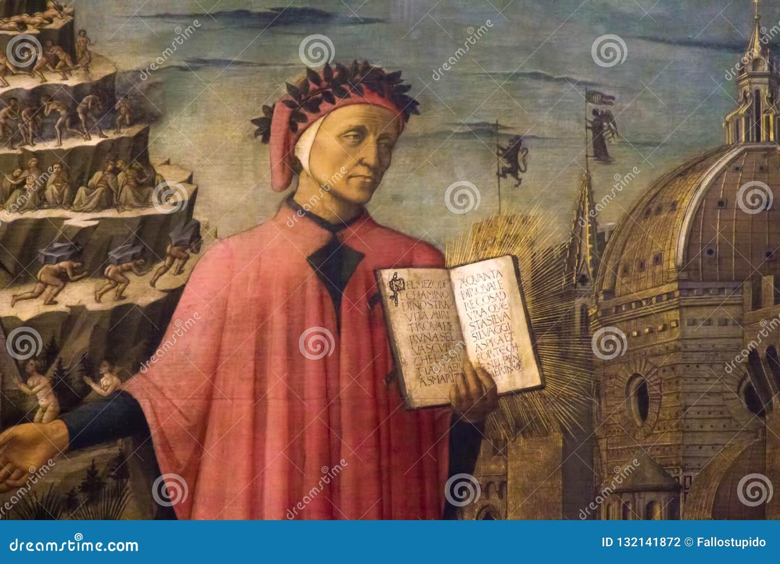 De fresko van Dantealighieri