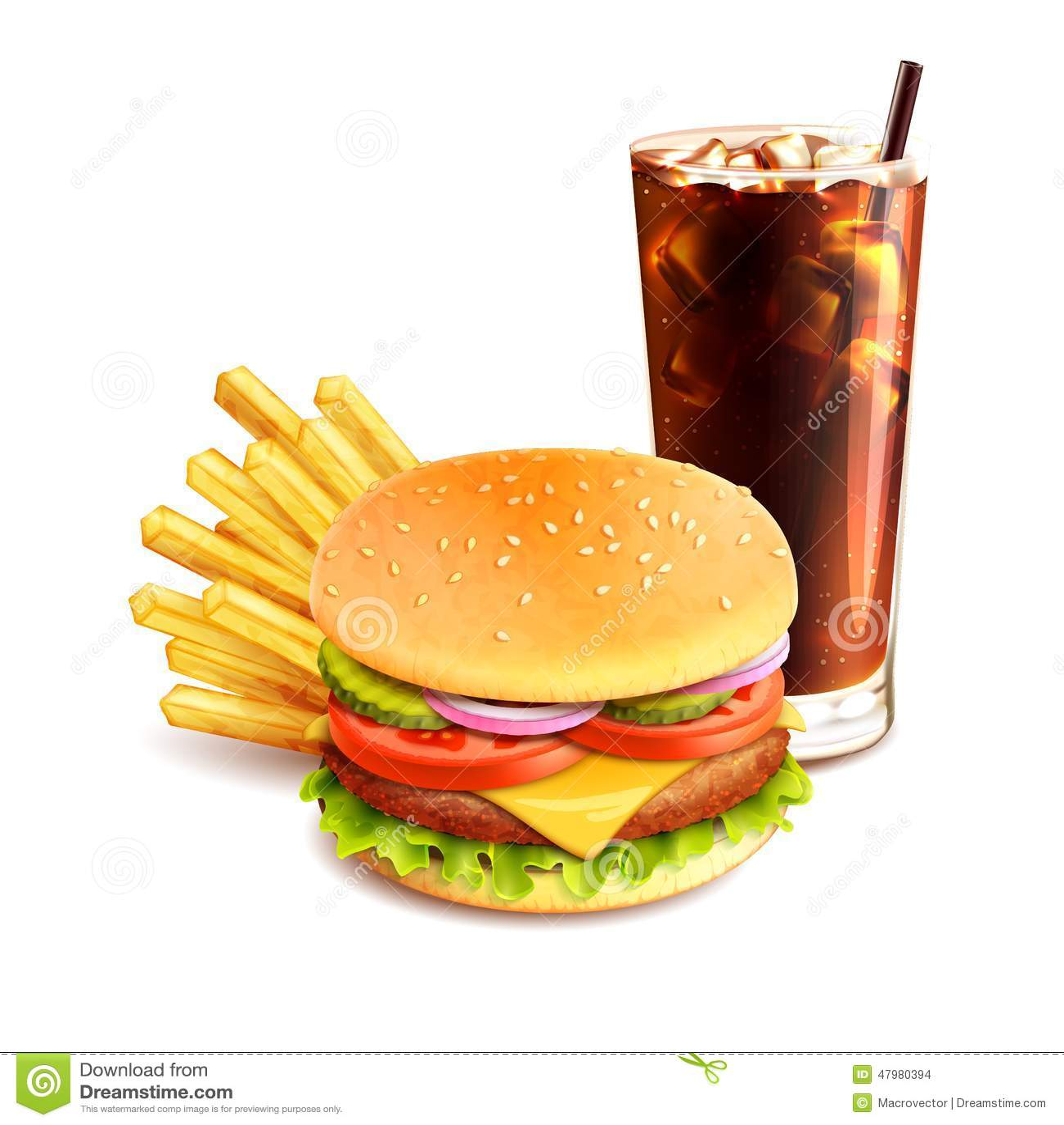 De Frieten en de Kola van de hamburger