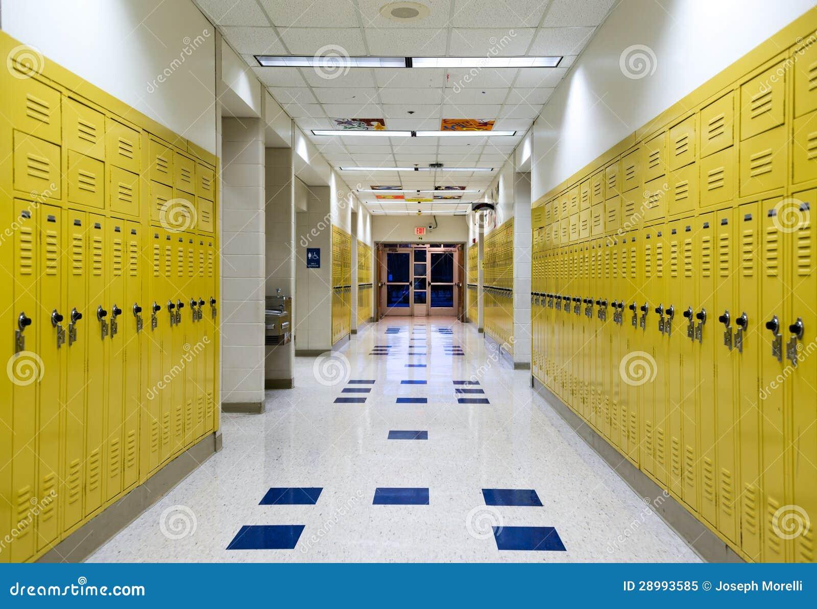 De gang van de middelbare school stock afbeelding afbeelding 28993585 - Deco van de gang ...