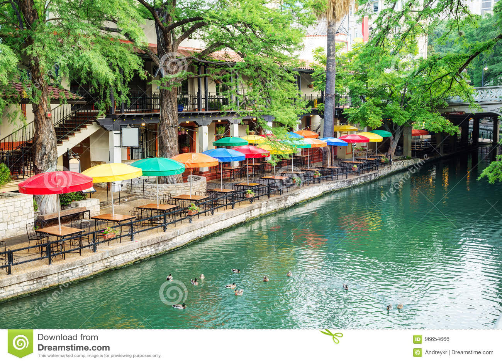 De gang van de rivier in San Antonio