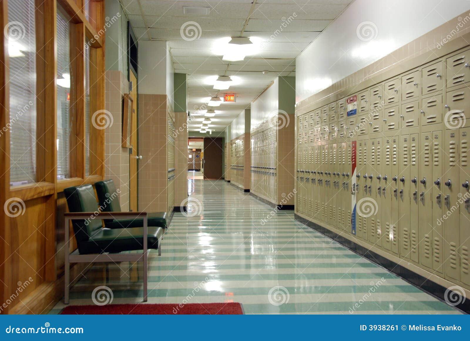 De gang van de school van hish stock afbeelding afbeelding 3938261 - Deco van de gang ...