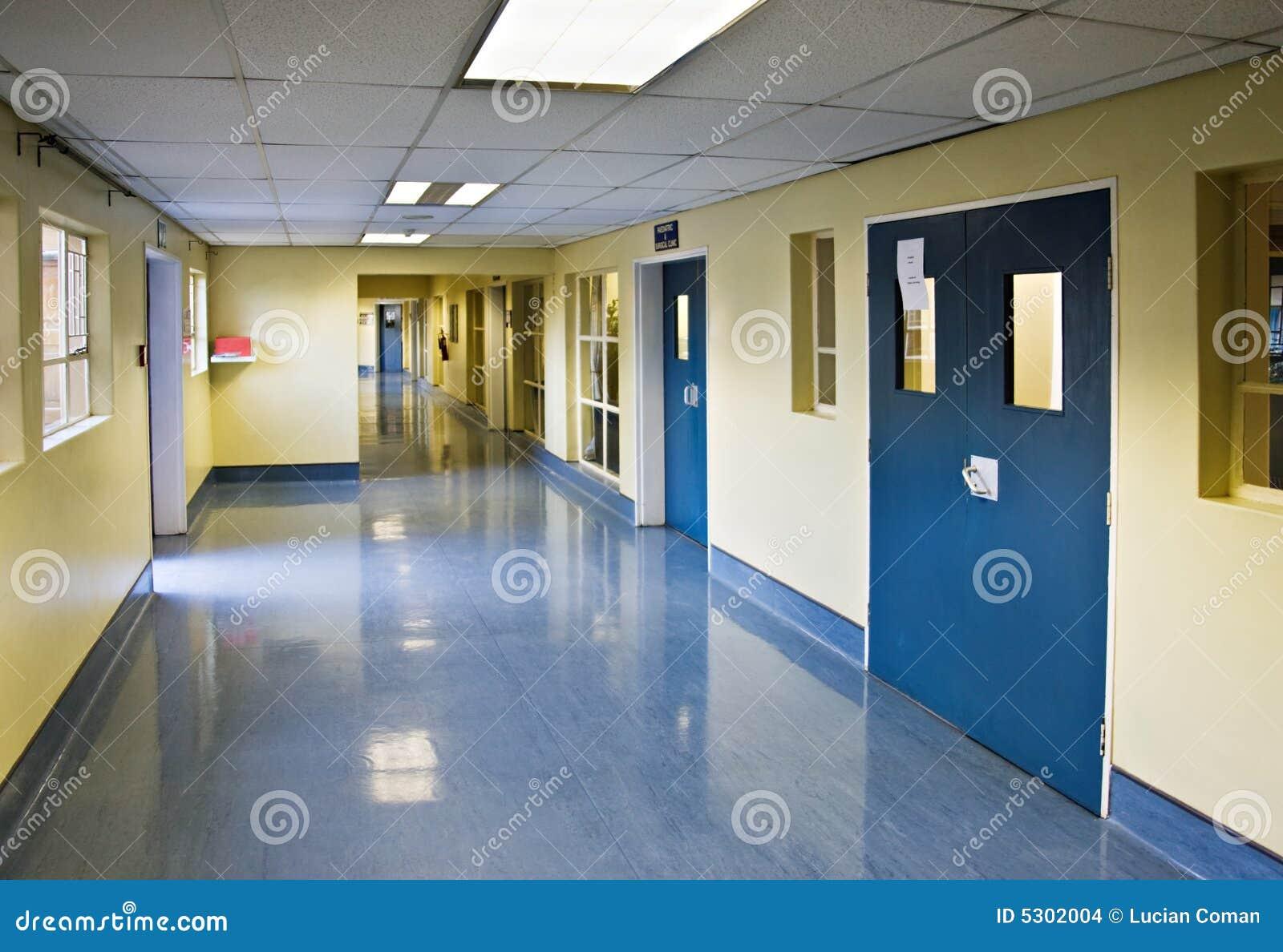 De gang van het ziekenhuis stock afbeeldingen beeld 5302004 - Deco van de gang ...
