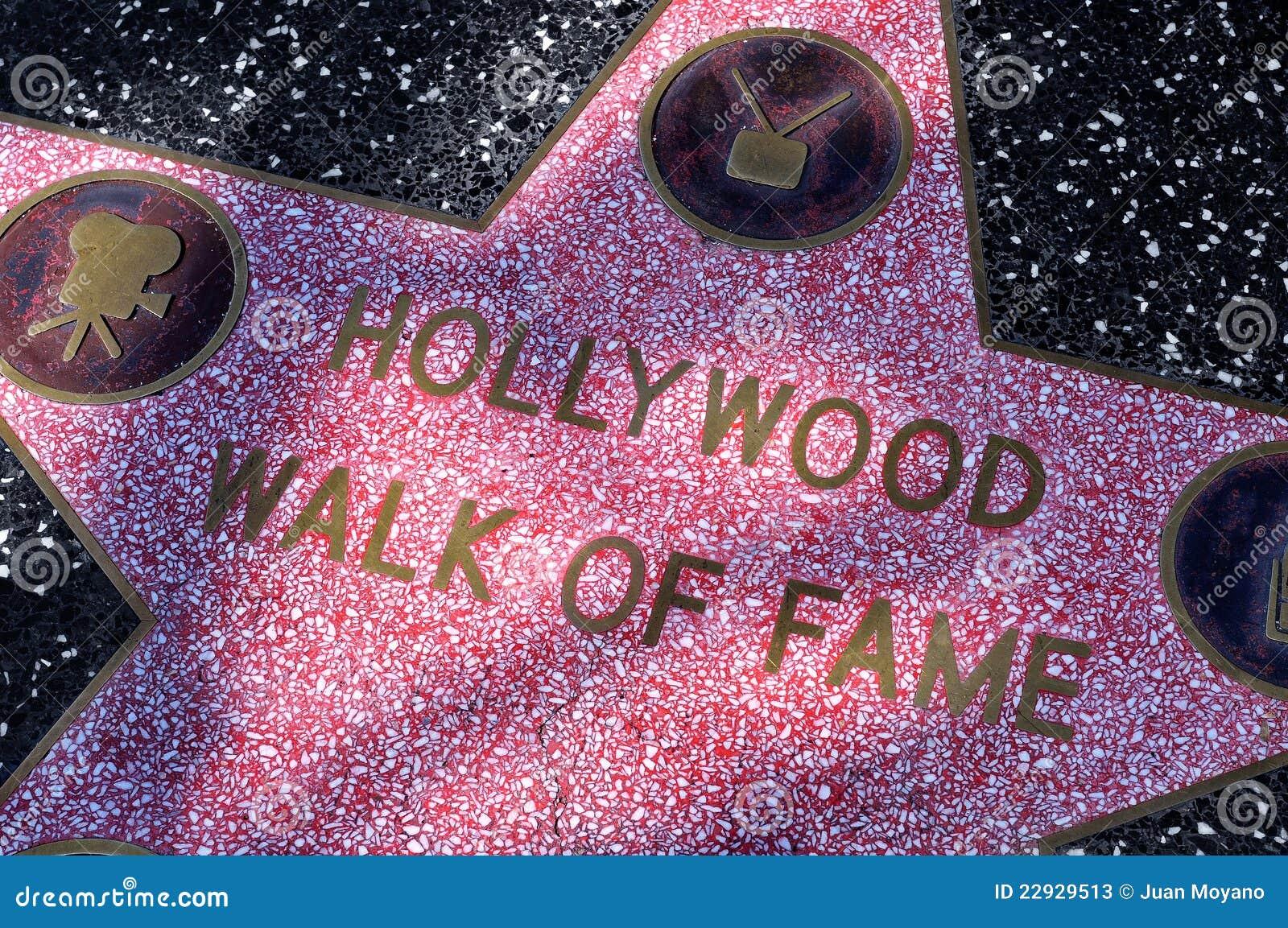 De Gang van Hollywood van Bekendheid in Los Angeles