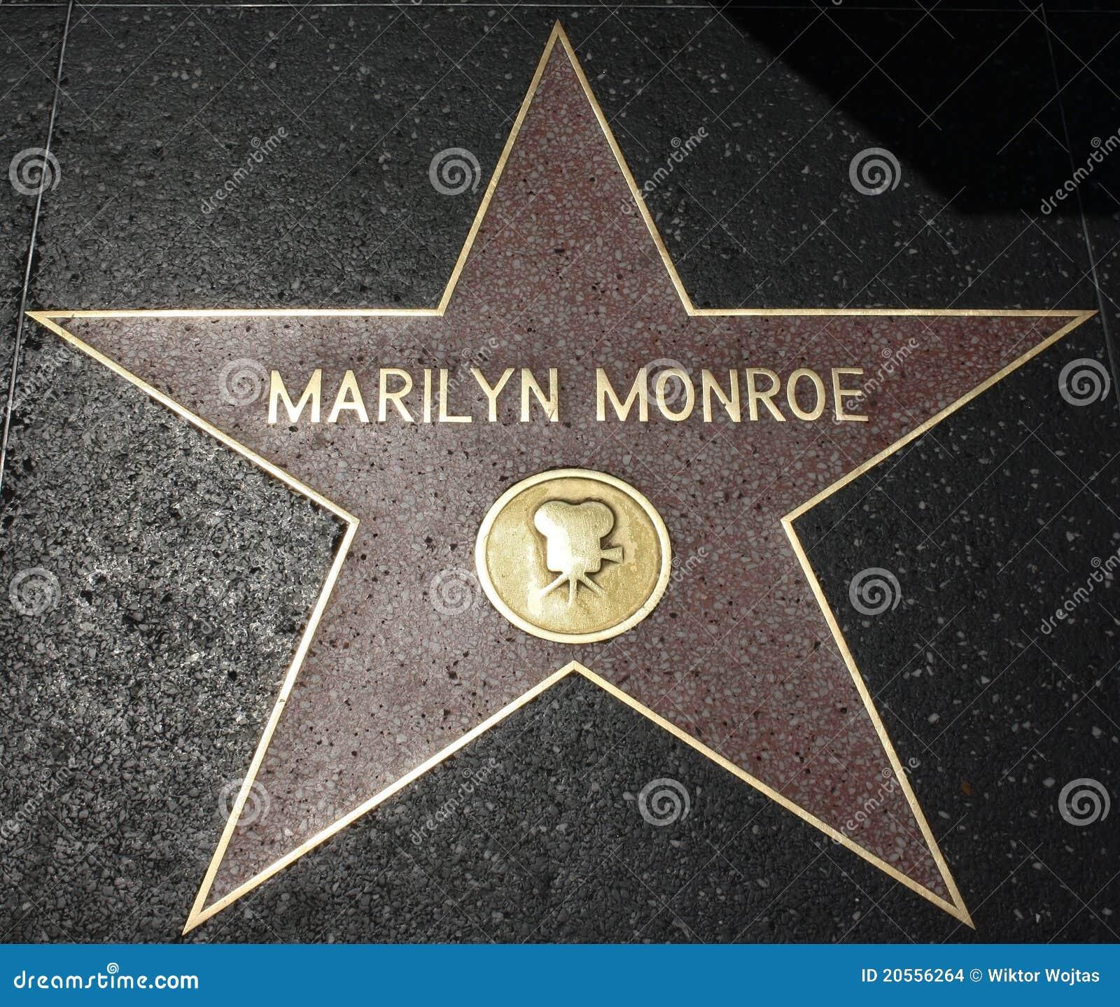 De Gang van Hollywood van Bekendheid - Marilyn Monroe
