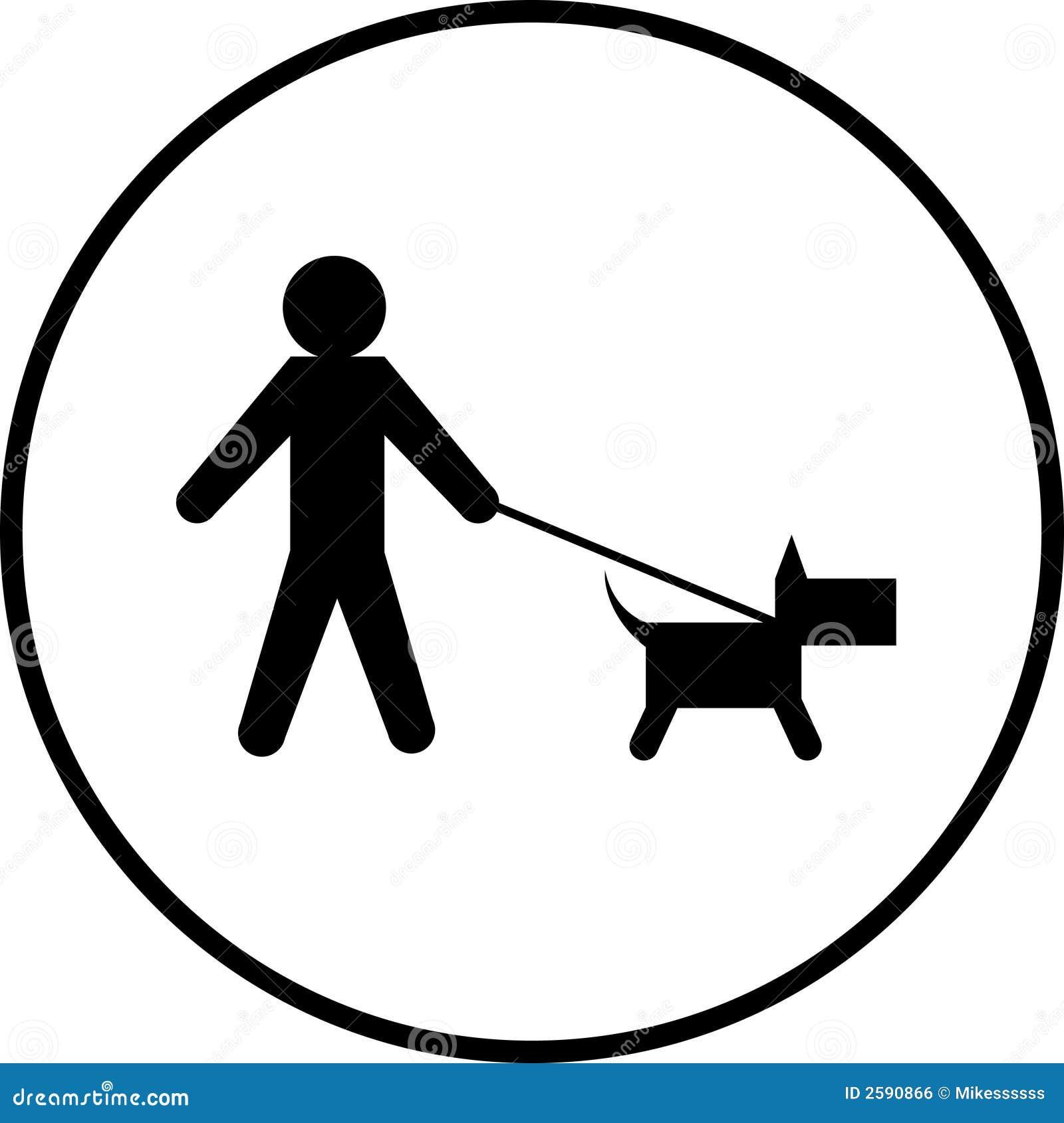 De gangsymbool van de hond