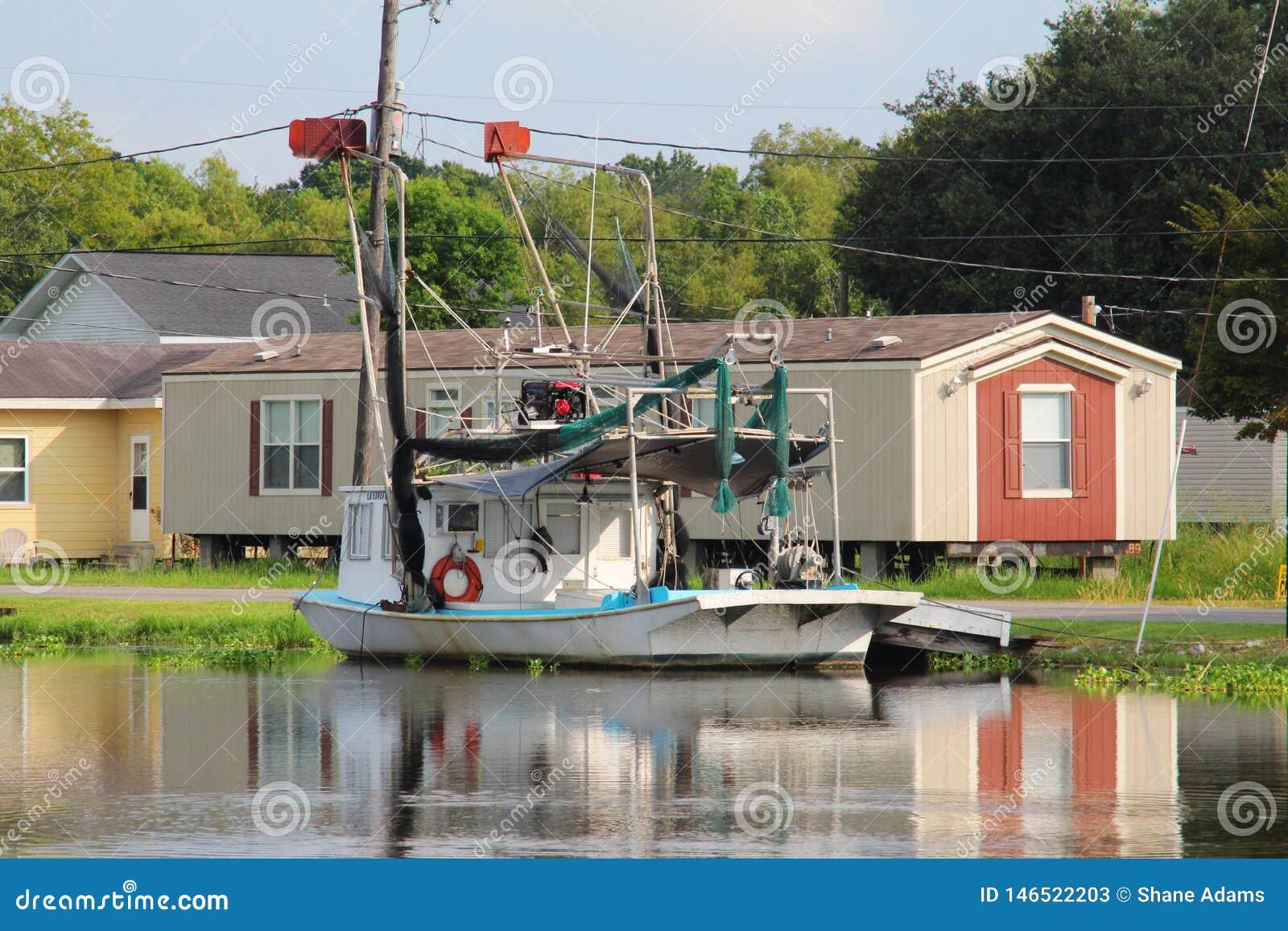 De Garnalenboot van Louisiane