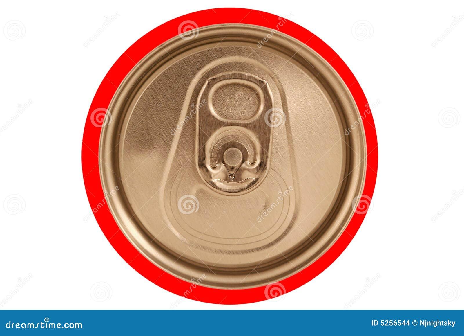 De geïsoleerdeG gesloten rode soda kan deksel