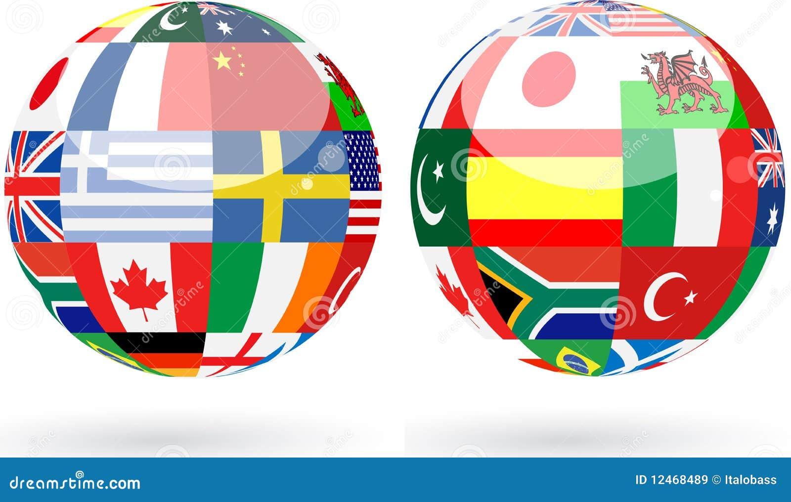 De gebieden van de wereld