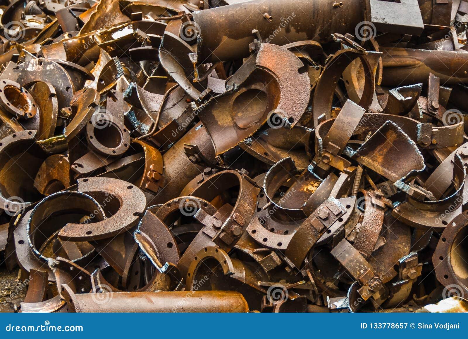 De gebroken metallurgie van het metaalafval fabrik in Arbed Luxemburg
