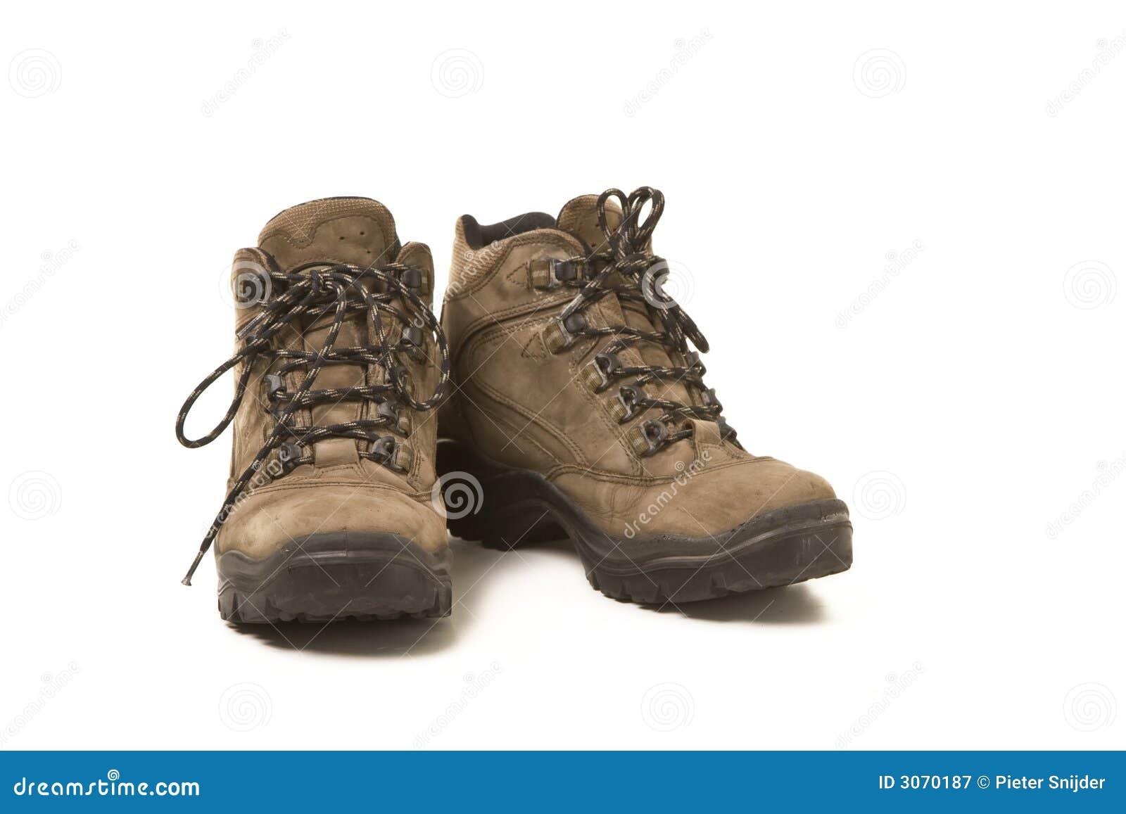 De gebruikte schoenen van de Wandeling