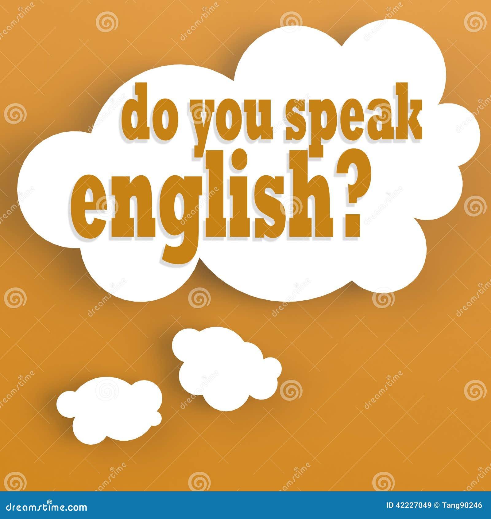 De Gedachte Bel Met U Spreekt Het Engels Stock Illustratie