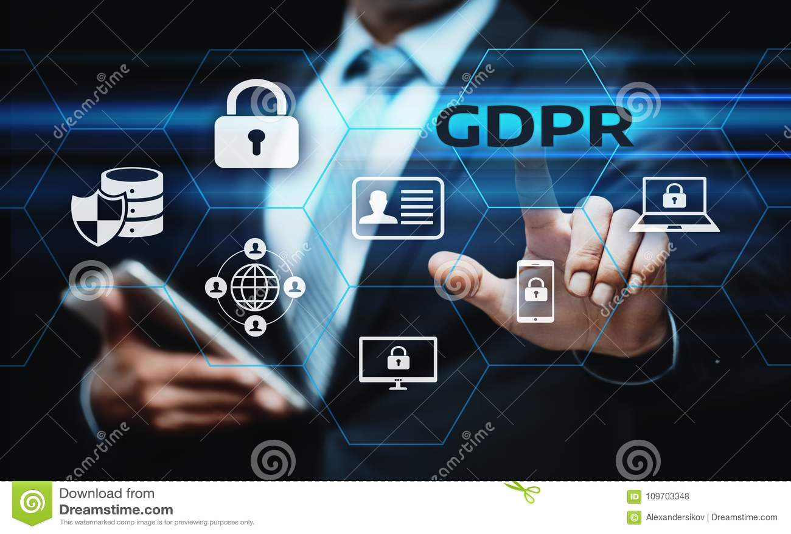 De Gegevensbeschermingverordening van GDPR Algemeen de Commerciële Technologieconcept van Internet