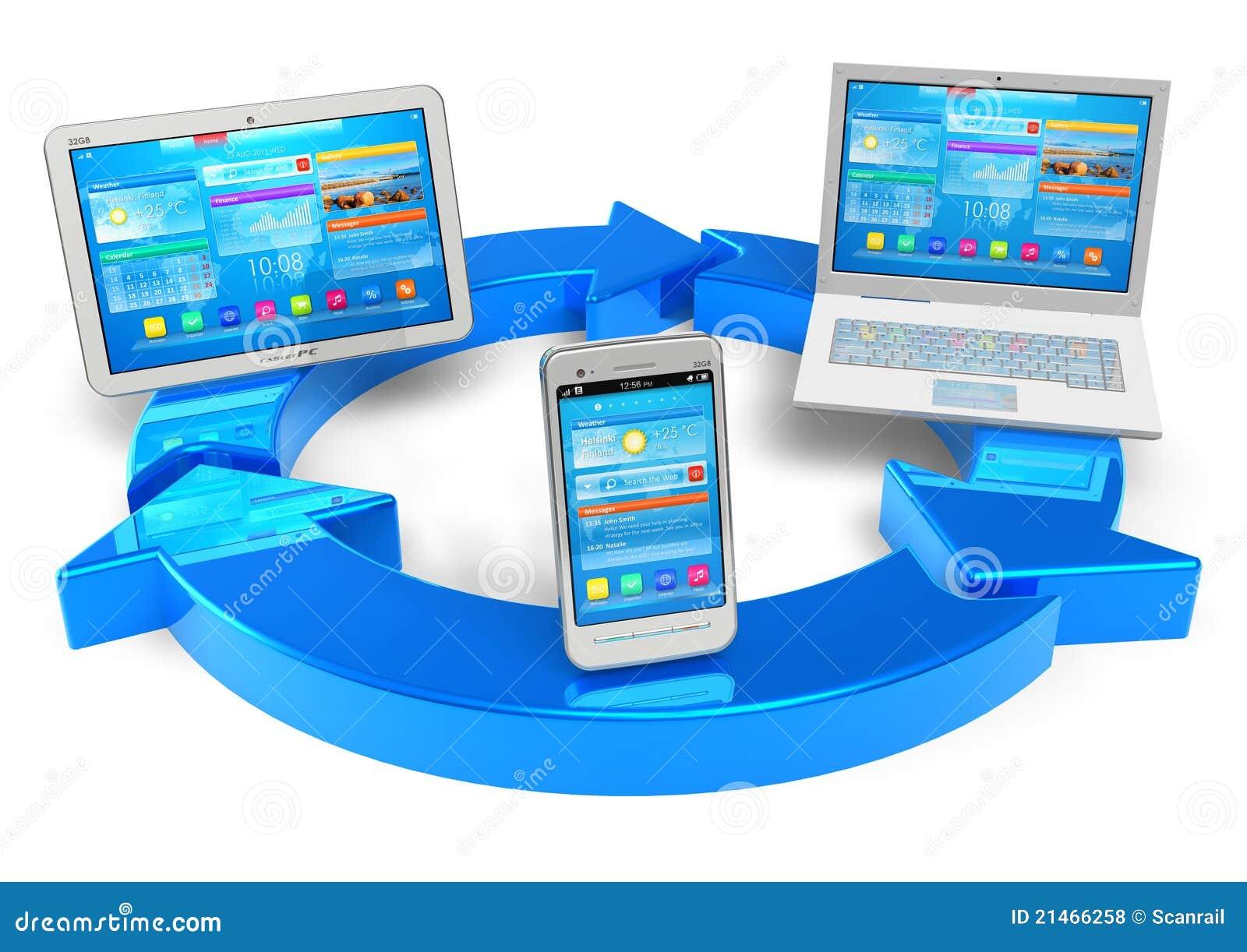 De gegevensverwerking van de wolk en draadloos voorzien van een netwerkconcept