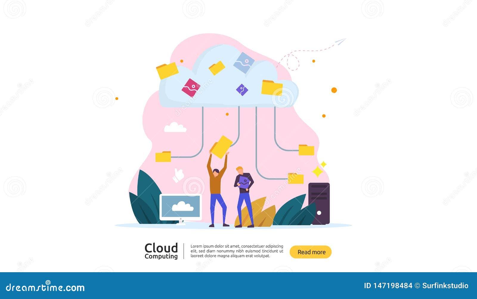 De gegevensverwerkingsconcept van de wolk E