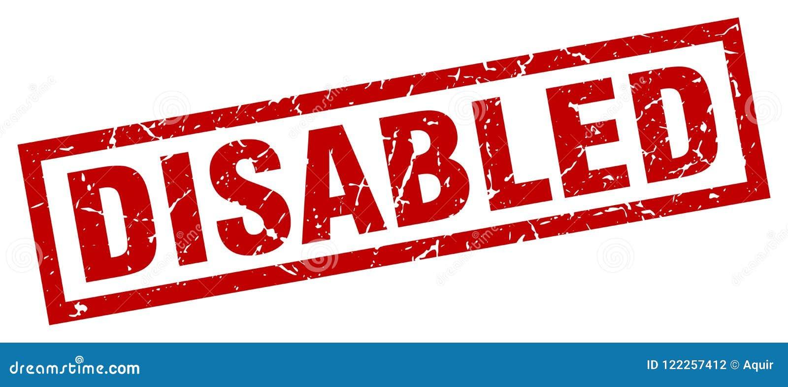 De gehandicapten stempelen