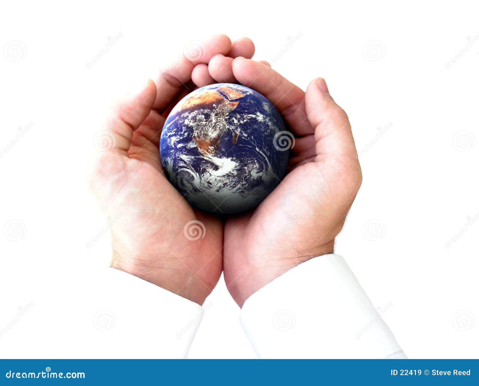 De gehele wereld in mijn handen