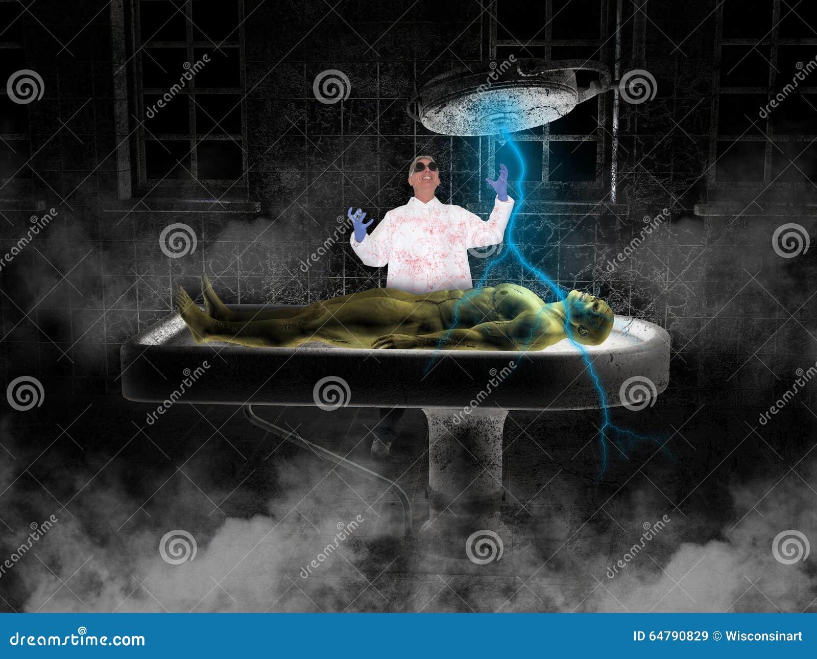 De Gekke Wetenschapper Frankenstein Monster van Halloween