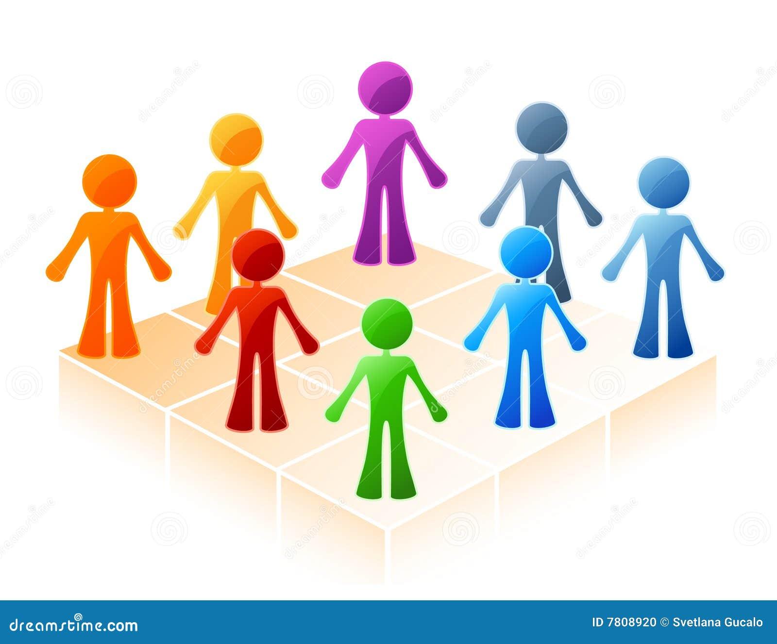 De gekleurde mensen omcirkelen