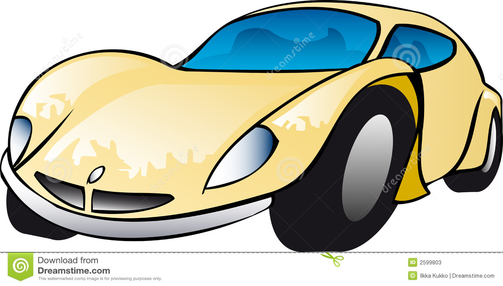 De gele Illustratie van de Sportwagen