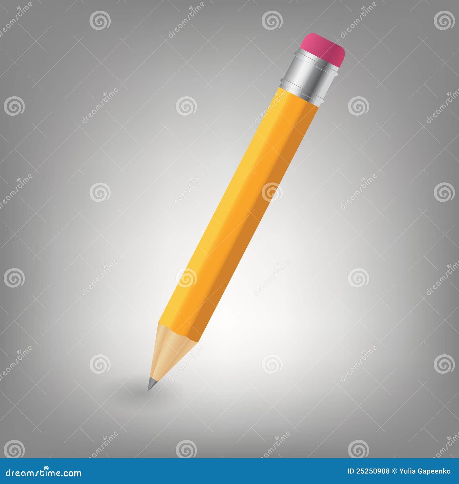 De gele illustratie van het potloodpictogram