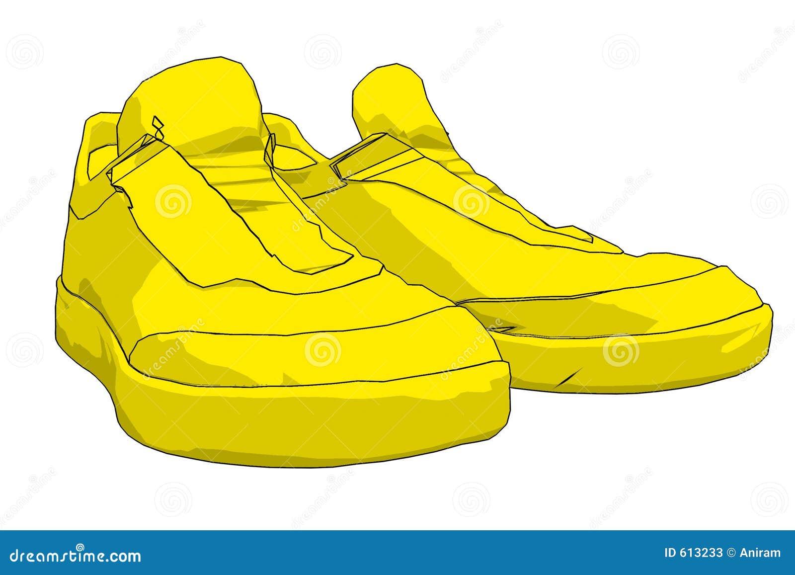 De gele Schoenen van de Sport