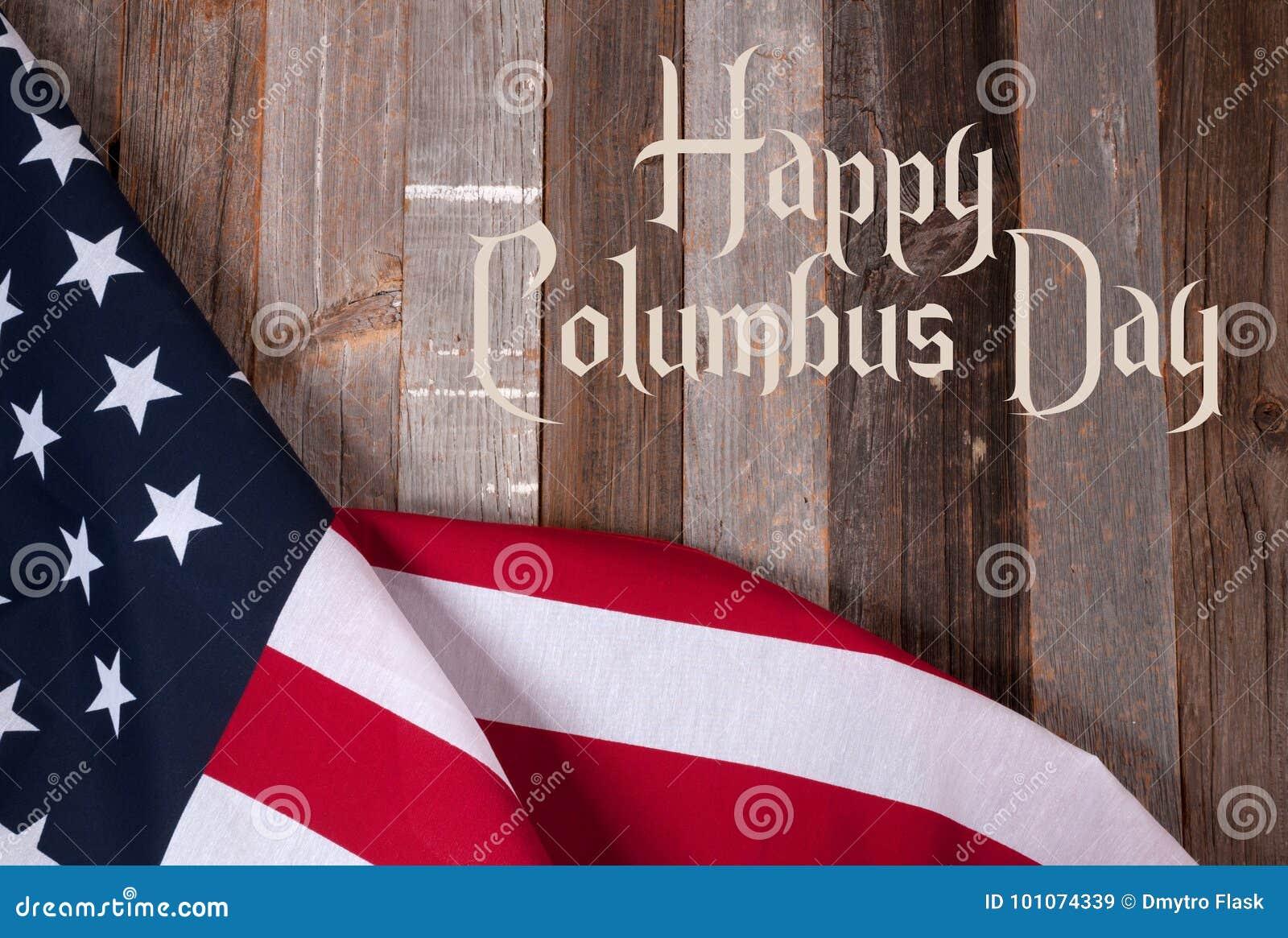 De gelukkige dag van Columbus De vlag van Verenigde Staten